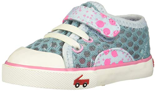 See Kai Run Girls' Saylor Sneaker, Aqua, 2Y M US Little Kid