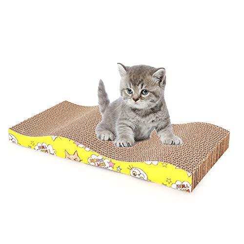 QDCITT Tabla de arañazos curva para mascotas resistente al desgaste garras de papel corrugado moliendo gato juguete suministros para mascotas al por mayor y al por menor