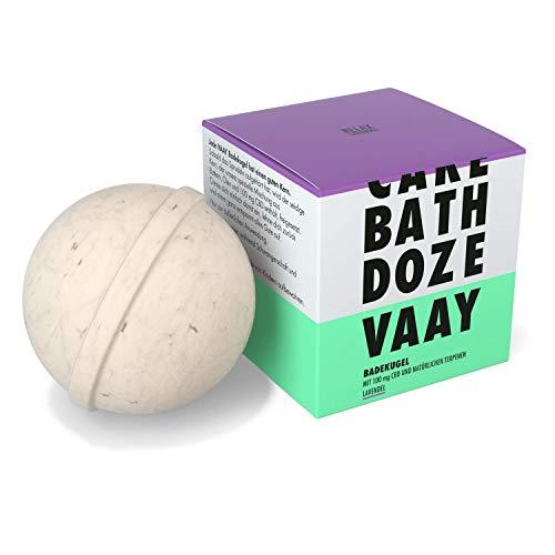 VAAY Badekugel Relax Lavendel – Badezusatz zur Entspannung – mit 100 mg natürlichem CBD, 150 g