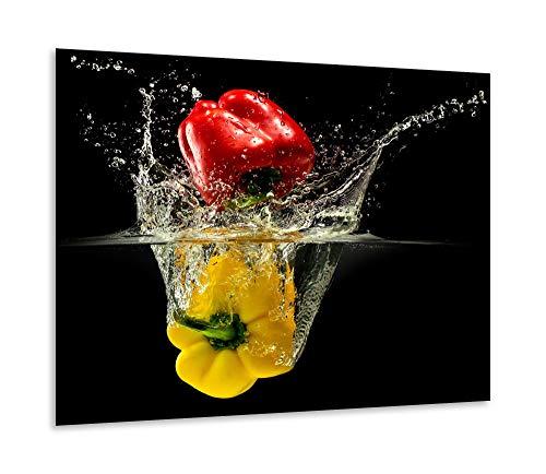 Fornuis afdekplaat Ceranfeld 1-delig 60x52 Paprika rood kookplaten glas inductie