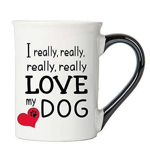 Cottage Creek Dog Mug   I Really, Really, Really, Really Love My Dog 16 oz Cute Dog Coffee Mug   Dog Mom   Dog Gifts for Women   Dog Gifts for Dog Lovers