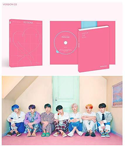 BTS - Álbum de Fotos con diseño de Mapa de la Persona del Alma (versión 3, CD, póster y minilibro, Tarjeta de Fotos, Postal, película de Fotos y Regalo)