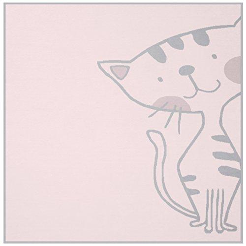 biederlack Lovely und Sweet Kitty, Baumwoll-Mischgewebe, Rose, Single