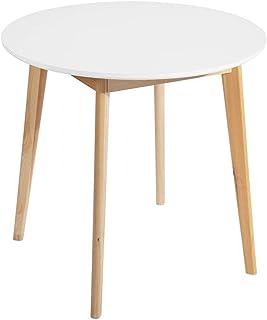 MEUBLE COSY Table à Manger Table salle à manger, blanc /80x80x75cm