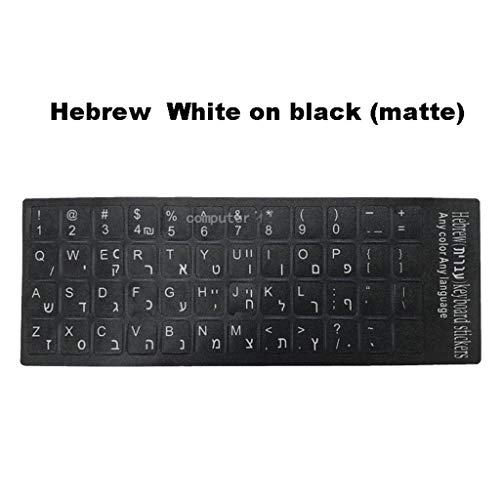 Hebreeuws Arabisch Frans toetsenbord schrijftraktijk leren taal film sticker mat laptop alfabet button sticker