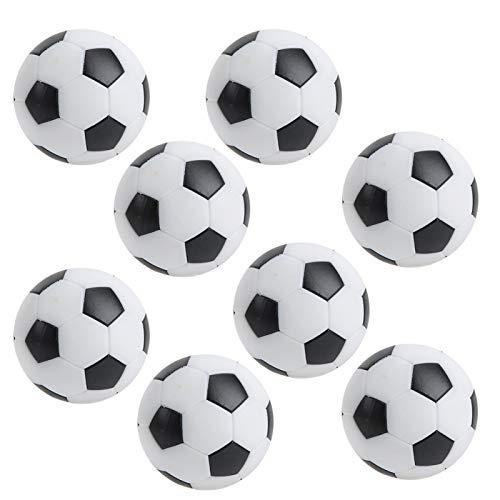 CUEA Pelotas de fútbol de Mesa, futbolines de Mesa, Pelotas de Repuesto, Mini futbolín portátil, 8 Piezas, Pelotas de fútbol de Mesa de 32 mm para Accesorios de Juego de Mesa de fútbol