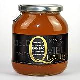 Miel pura de abeja 100%. Miel cruda de Romero. 1 Kg. Producida en España. Sin pasteurizar ni calentar. Artesana de alta calidad. Tarro de cristal. Gran variedad de exquisitos sabores.