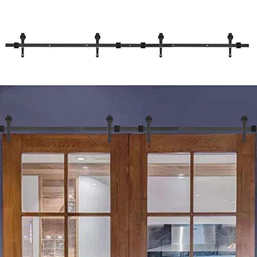 Schuifdeursysteem voor schuifdeuren, railsysteem voor schuifdeuren, van hoogwaardig staal, eenvoudige installatie, voor kasten 8FT