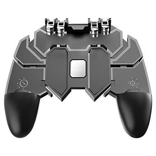 Gamepad Manette de jeu mobile Liaison à six doigts Bouton auxiliaire de tir rapide Bouton en métal de la console de jeu et manette de jeu for jeux mobiles extensibles Déclencheurs de jeu for mises à n