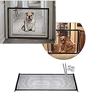 Pet Magic Gate Guard for Dog Retractable Baby Gate Doorways Dog Gates for Kids or Pets Portable Folding Safe Guard Mesh Porch Door Room Dividers for Dogs Cats Indoor House Adjustable 72 inch