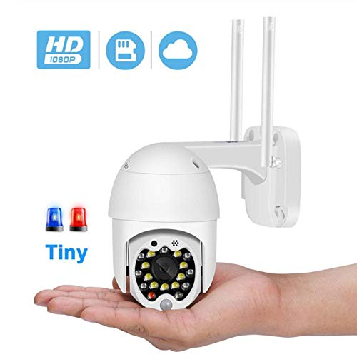 1080P 320°/90° PTZ WiFi Draadloze IP Camera Auto Tracking 4X Zoom 2MP Cloud-SD-kaart Bewegingsdetectie Audio CCTV Camera