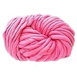 Janly Clearance Sale Lana para tejer, gruesa y suave, lana gruesa, gorro cálido, suministros para el hogar, poliéster, textiles de ganchillo para matar tiempo y pasatiempos (rosa)