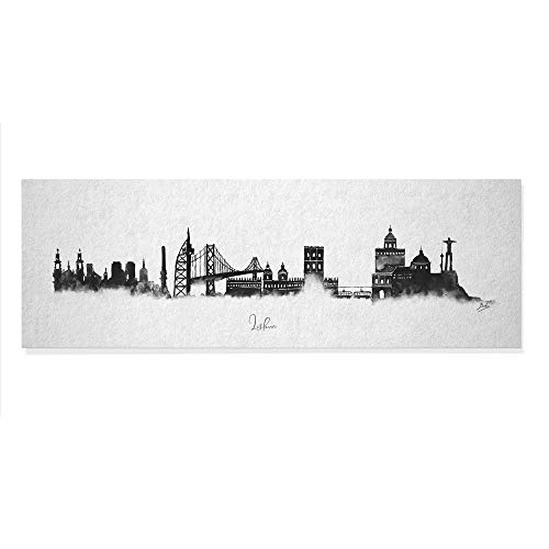 ArcoIris Home Cuadro Decorativo Skyline Lisboa 90x30cm