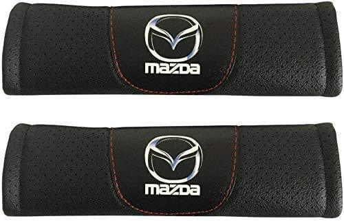 2Pcs Car Seat Belt Cover for Mazda 3 Mazda CX-3 Mazda 6 Mazda CX-5 Mazda MX-5 Miata Mazda CX-9, Comfort Soft Safety Interior Accessories Protector Neck and Shoulder Rubbing