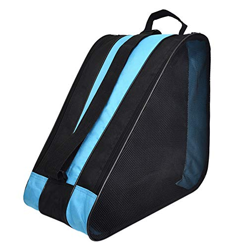 DAZISEN Tasche Schlittschuhe - Dauerhaft Schlittschuhtasche Skate Bag zum Rollschuhen Inlineskates, Blau, 39 * 20 * 38cm
