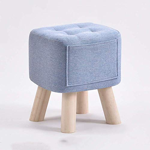 APAN Ottoman Footstool with Pockets,Modern Multipurpose Footrest for Bedroom Living Room Dorm Or Rv-q 28x28x35cm(11x11x14)