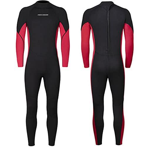 FR&RF Traje de neopreno para mujer, de 3 mm, de neopreno, de una pieza, para invierno, para deportes acuáticos, color rojo, XXL