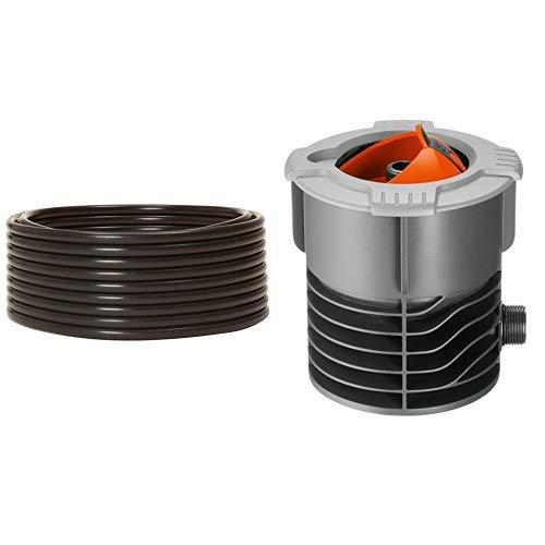 Gardena Sprinklersystem Verlegerohr, Zentrale Leitung, 25 m lang & Sprinklersystem Anschlussdose, mit 3/4