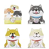 Aimeio Super Cute Cartoon Animal Dog Stickers for DIY Albums Diary Laptop Computer Decoration Scrapbooking Planner Journal Kids Party Favor Stickers,4 Pack 120 Pieces