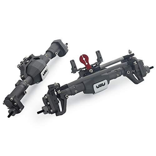 enjoyfashion Aluminum Alloy Front and Rear Portal Axle for 110 RC Crawler Car Axial SCX10 I SCX10 II Redcat GEN8 RGT 86100 Upgrade Parts