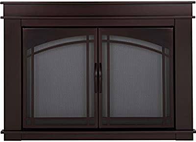 Pleasant Hearth FN-5702 Fenwick Fireplace Glass Door, Oil Rubbed Bronze, Large from Pleasant Hearth