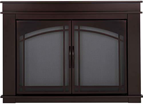 Pleasant Hearth FN-5700 Fenwick Fireplace Glass Door, Oil Rubbed Bronze, Small