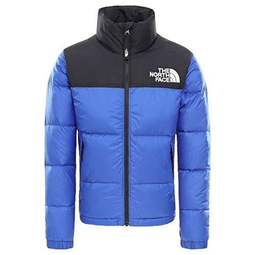 THE NORTH FACE Youth Retro Nuptse Jacket Colorblock-Blau, Kinder Daunen Freizeitjacke, Größe XS - Farbe TNF Blue