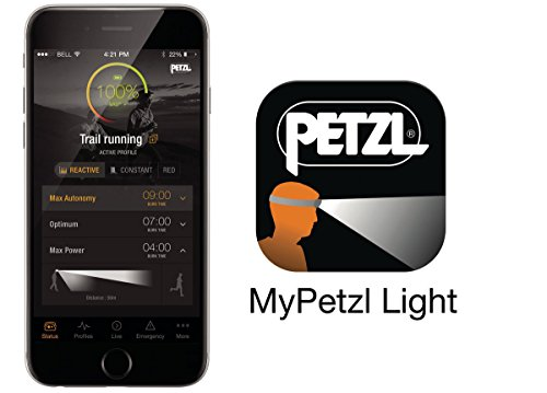 PETZL, NAO+ Headlamp, 750 Lumens, Bluetooth Enabled