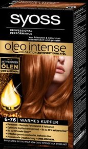 Syoss Oleo Intense 6-76 Warmes Kupfer 115ml, 3er Pack (3x115ml)