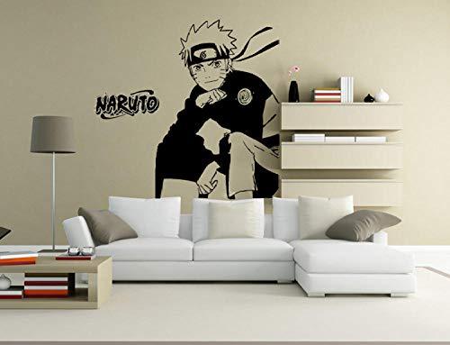 Muurstickers - slaapkamer van Naruto Decoratie slaapkamer naast bed 65 x 45 cm muursticker / behang / poster / siluette voor decoratie van het huis