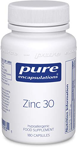 Pure Encapsulations - Zinc 30 - Zinc Picolinate 30mg - Highly Absorbable Hypoallergenic Immune System Supplement - 180 Capsules