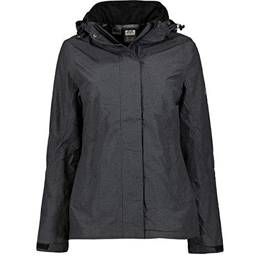 McKINLEY Damen Doppel Malta 3in1 Jacke, Black/Black, 48