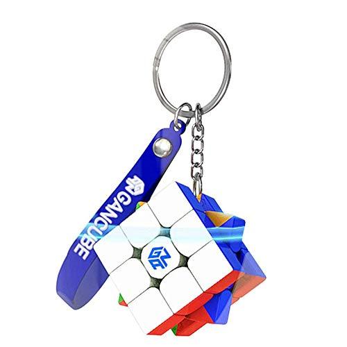 1 / 2Pcs Mini Rubik's Cube Keyring GAN 330 Speed Cube 3x3 Magicless Cube para llavero Adornos Accesorios Viaje Puzzle Juego 30mm (1)