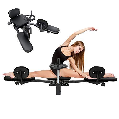 WYBF Attrezzo per L'allungamento delle Gambe Barella Macchina per Polpacci Resistente Coscia Stretching Attrezzature da Palestra Attrezzature per Fitness (Nero)