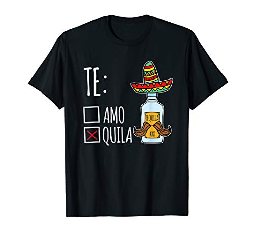 Teamo Tequila lustiges Mexiko Party Geschenk T-Shirt