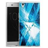 DeinDesign Slim Case extra dünn kompatibel mit Sony Xperia XA1 Ultra Silikon Handyhülle transparent Hülle Kristall Spiegel Linien