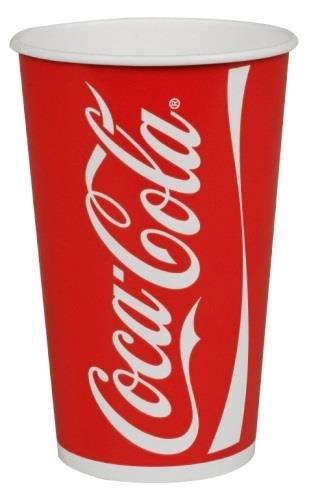 Abena 50 Gobelets Carton Coca COLA 40 cl