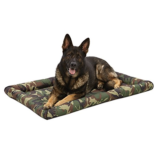 Midwest Ultra-Durable Dog Bed & Crate Mat, 48u0022, Camo Green