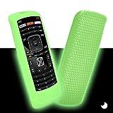 Remote Case for Vizio XRT112 / XRV4TV Smart TV Remote Controller, [Shock Proof] Lightweight Skin-Friendly Silicone Cover for Vizio XRT112 Remote (Green Glow)
