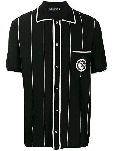 Luxury Fashion | Dolce E Gabbana Heren G5GR8ZG7WCCS8051 Zwart Elasthaan T-shirts | Lente-zomer 20