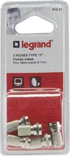 Legrand 091021 Fiche Mâle Télévision Coaxiale x 5, Type