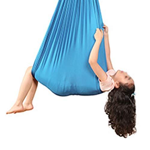 WWL Columpio Terapia Interior niños Adolescentes Hamaca Yoga Terapia Interior Hamaca Columpio Jardín Antigravedad para Autismo Hamacas Columpio con TDAH Columpio Swing (Color : F, Size : 100 * 280CM)