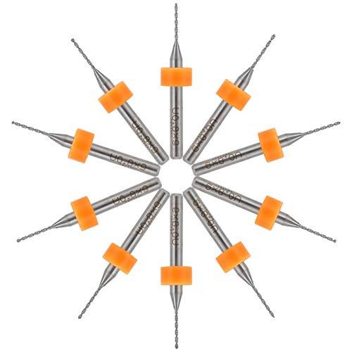 Longzhuo Juego de Mini Brocas de 10 Piezas para taladrar Madera, Herramientas de reparación de Relojes de teléfonos móviles, 0,8 MM