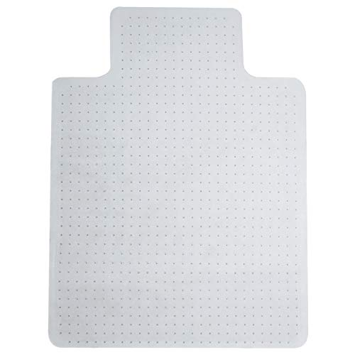 floor mats office chair mat for carpet rolling chairs under computer desk home carpeted floors protector thick rug clear plastic pad heavy duty Vinyl 36 X 48 with-Lip Non-slip Studded high medium pile