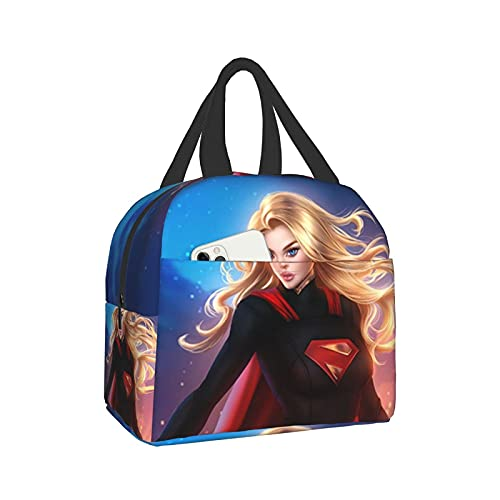 Hermoso superhéroe (3) bolsa portátil de aislamiento térmico para arroz, bolsa impermeable de aislamiento térmico, bolsa de almuerzo, caja reutilizable para adultos y niños