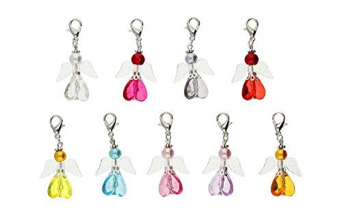 DIY Set für 9 Perlenengel Schutzengel in verschiedenen Farben / Hochzeit Konfirmation Geburtstag Weihnacht Taufe Kommunion Geschenk Gastgeschenk EAS2