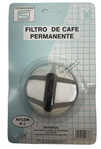 Tecnhogar 00778 Filtro café nylon, Gris