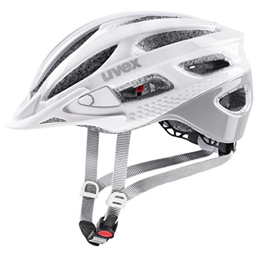 uvex Unisex– Erwachsene, true Fahrradhelm, white - grey, 52-56 cm