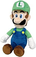 Little Buddy Super Mario All Star Collection 1415 Luigi Stuffed Plush, 10