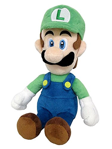Little Buddy Super Mario All Star Collection 1415 Luigi Stuffed Plush, 10'